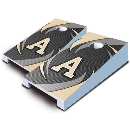 Army Black Knights Tabletop Cornhole Boards Bean Bag Tailgate Toss Game Swoosh Pattern Mini Miniature (Knights Army Black Tabletop)