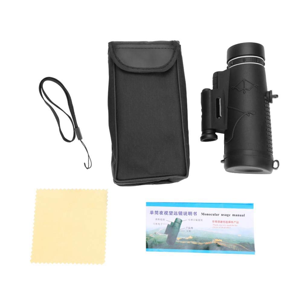 Alomejor Outdoor Mini Monocular, 50 x 60 Phone Monocular HD Waterproof Science Birdwatching Camping Monocular