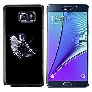 LECELL--Funda protectora / Cubierta / Piel For Samsung Galaxy Note 5 5th N9200 -- Ángel Guerrero de la Muerte Blanca Arte Cielo Espada --