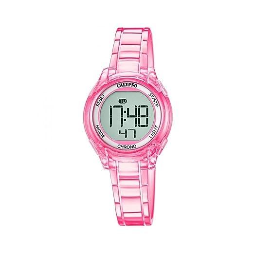 Reloj Calypso digital k5737/3 al cuarzo (batería) policarbonato quandrante gris correa goma: Amazon.es: Relojes