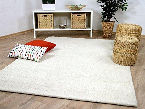 Natur Teppich Berber Aruna Uni Wollweiss in 7 Größen