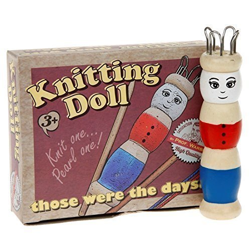 WOODEN FRENCH KNITTING DOLL SET WITH WOOL CHILDREN GIFT CRAFT Ackerman