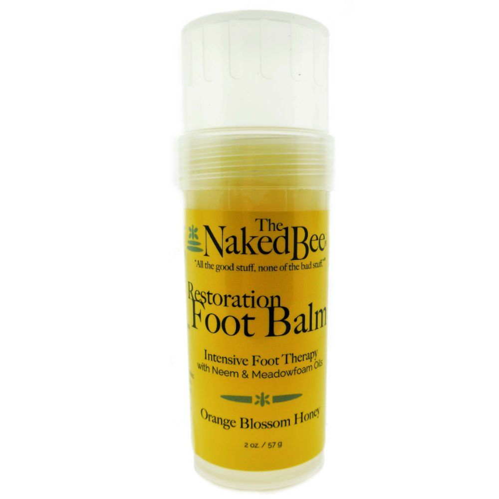 The Naked Bee Restoration Foot Balm, 2 Ounce, Orange Blossom Honey