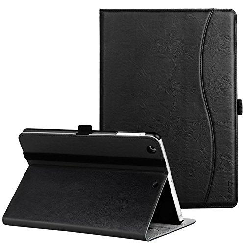 Ztotop iPad Mini 1/2/3 Case, Premium Leather Folio Stand Protective Case Smart Cover with Multi-Angle Viewing, Pocket, Functional Elastic Strap for Apple iPad Mini 3/ Mini 2/ Mini 1 - Black