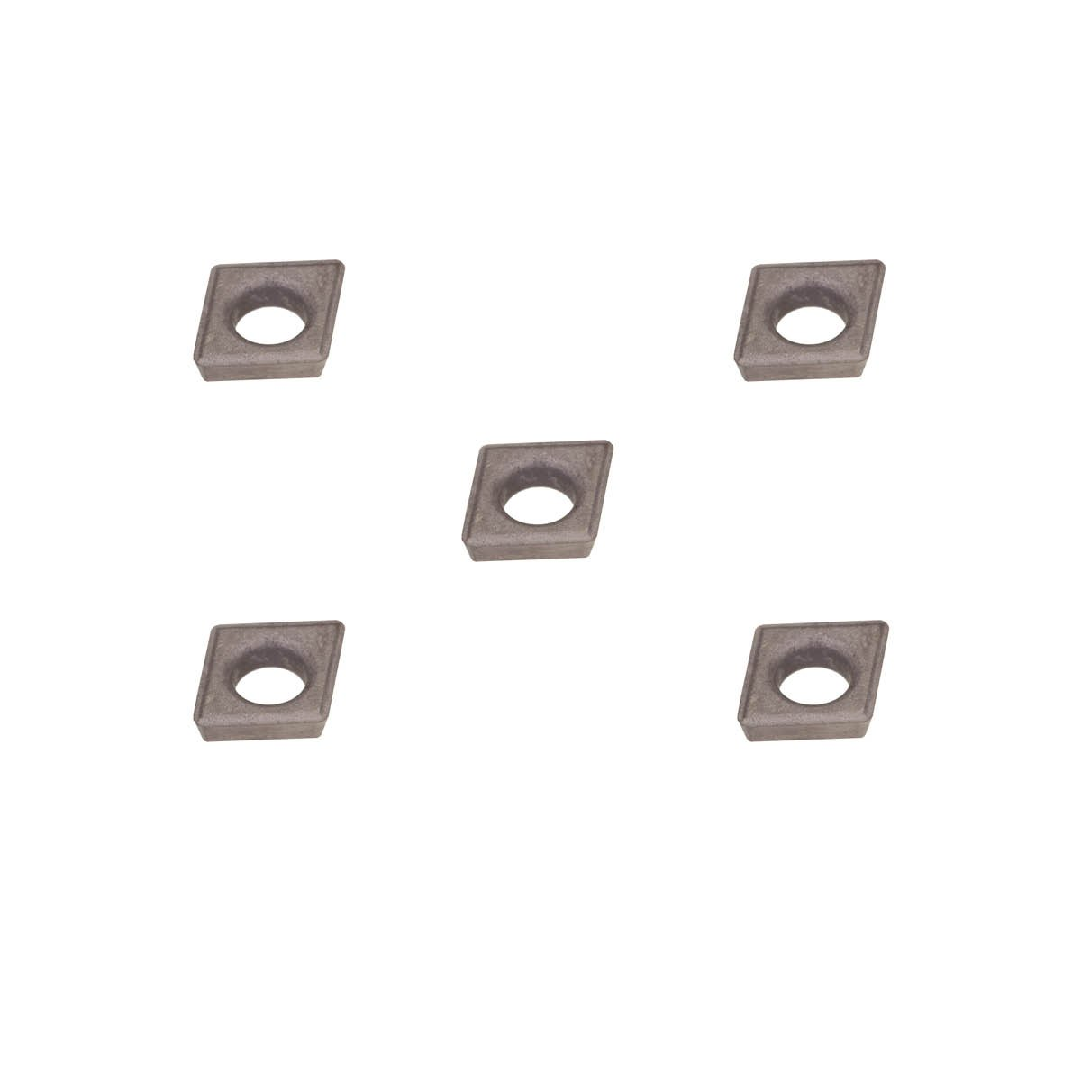 0.015 Radius Uncoated carbide boring insert for non-ferrous alloys plastic without interrupted cuts. aluminium Molded Chipbreaker THINBIT 5 Pack MBAIW15D5U MBA Series