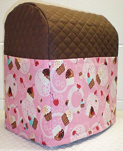 Penny's Needful Things Pink Cupcake Cover Compatible for Kitchenaid Stand Mixer (Chocolate Brown, 4.5,5,6qt Lift Bowl)