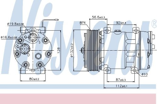 aire acondicionado Nissens 89065 Compresor