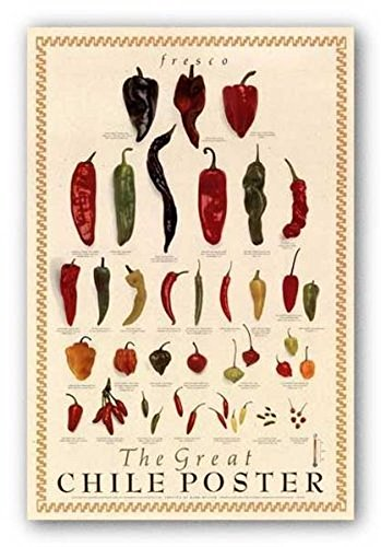 Laminated Great Chile Poster (fresh) by Mark Miller Art Print Poster 24x36 (Great Chili Poster)