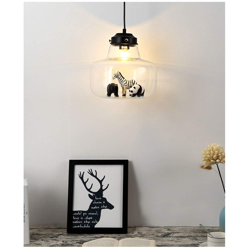 9W Plafond cr/éatif Animal Abat-Jour en Verre Lampe Suspendue Lustre d/écoration Chambre Chambre Filles Couloir,White CL-C LED lumi/ère pendante pour la Chambre des Enfants