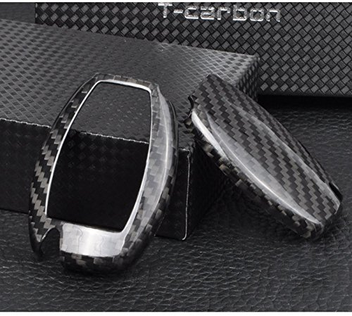 T-Carbon Luxury Geniune Carbon Fiber Remote Key Chain 3k Highlight Polish Keyless Protection Case Cover for Mercedes-Benz S Class, SLS AMG ,SLR Class by T Carbon (Image #2)