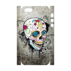 C-EUR Cell phone Protection Cover 3D Case Skull For Iphone 5,5S