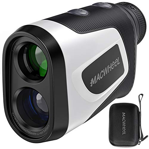 Macwheel Golf Rangefinder V1000, 1000 Yards Laser Range Finder with Slope,USB Charging, Flag-Lock Tech with Vibration, Distance/Speed/Angle Measurement Rangefinder