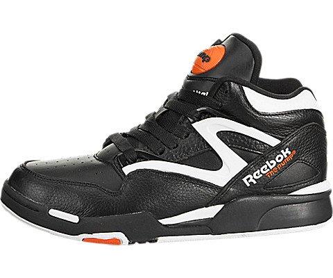 Men Reebok Pump (Reebok Pump Omni Lite Mens Leather Hi Top Sneakers-Black-8)