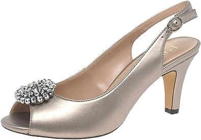 Elodie Slingback Peep Toe Shoes | Pumps