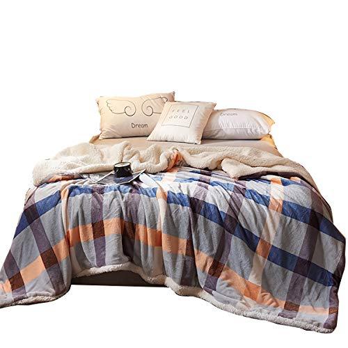 Amazon Com Uozzi Bedding Sherpa Fleece Blanket Warm Soft Luxurious