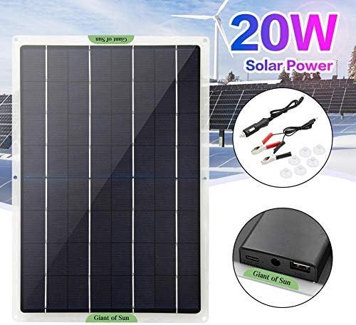 Onlyonehere 20W Solarladegerät Panel Solarpanel Energieversorgung Kompatibel Mit Draussen Wasserdicht Sonnenkollektor