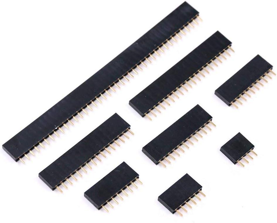 ULTNICE 11 Broches Simple Ligne Droite M/âle 2.54 Broche Connecteur Den-t/ête pour Arduino Electronics Prototype Shield Guitare /Électrique 10 pcs