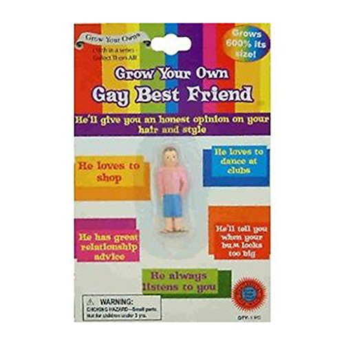 2x Novelty Grow Your Own Gay Best Friend Adult Funny Diabolical Joke Gag Party