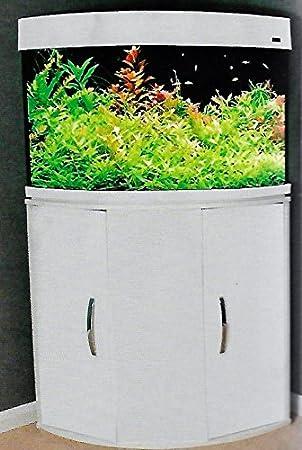 Aqua One 54247 wh - Aqua Vogue 140 esquina Acuario Set 140L 83 x 46 x 55 cm, color blanco: Amazon.es: Productos para mascotas