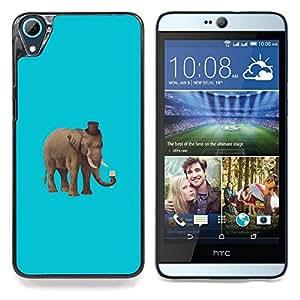 "Qstar Arte & diseño plástico duro Fundas Cover Cubre Hard Case Cover para HTC Desire 826 (Hipster elefante"")"
