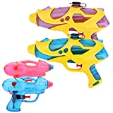 WATINC 4 Pcs Water Squirt Guns Water Blaster Shooters Launcher Gun Toy for Kids Swimming Pool Game Beach Garden Water Toy Water Gun