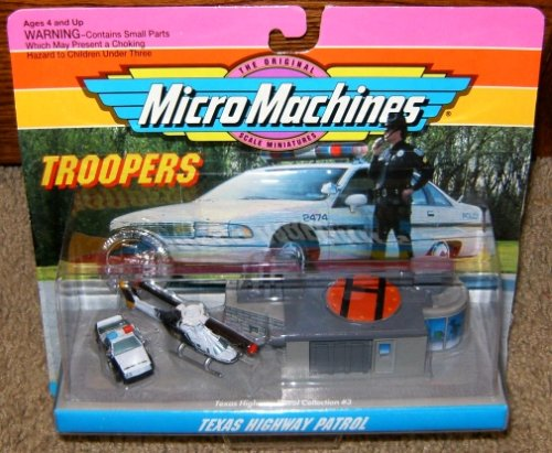 222 Bell Scale - Texas Highway Patrol Micro Machines Troopers Set #3