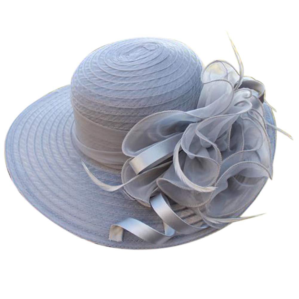 Cren Women's Organza Church Kentucky Derby Fascinator Bridal Tea Party Wedding Hat