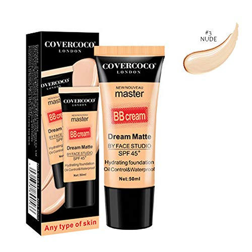 BXzhiri BB Cream for All Skin Types Foundation Concealer Makeup Full Coverage Cream Concealing Silky Smooth Texture
