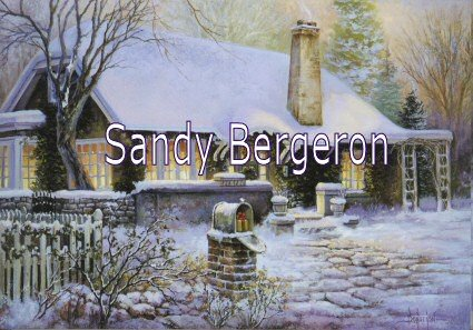 Bergeron Christmas Cards.Amazon Com Sandy Bergeron Cottage By The Lake Christmas