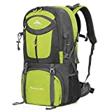 Cheap Vbiger 60L Hiking Backpack Waterproof Backpacking Pack Outdoor Sport Daypack with Rain Cover for Men and Women Climbing Hiking Trekking Mountaineering (Fruit Green)