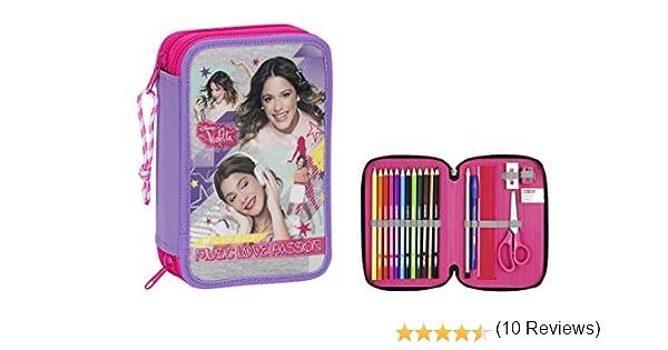Violetta - Plumier Doble pequeño, 34 Piezas (SAFTA 411542054): Amazon.es: Ropa y accesorios
