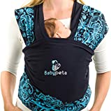 Stylish Baby Carrier Wrap - Keep Your Infant Calm & Stay Hands Free - For Newborns to Toddlers - Ideal for Breastfeeding & Aids Balance - Perfect Baby Shower Gift Under 30$! blue