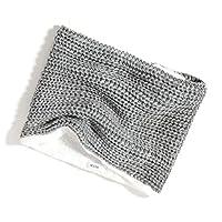 accsa Women Winter Infinity Loop Circle Knit Chunky Scarf Neck Warmer Soft Sherpa Fleece Lined Grey