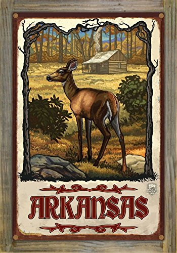 Arkansas Rustic Metal Print on Reclaimed Barn Wood by Paul A. Lanquist (12