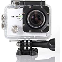 Becoler Waterproof WIFI Sports Action Camera 14MP 2.0-Inch HD Diving Sports Camera with Battery and Accessories Kit Included,White(Memory Card Not Included)