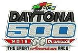"2018 DAYTONA 500 PATCH 60TH ANNUAL RACE NASCAR RACEWAY 4"" EMBROIDERED JERSEY STYLE PATCH"