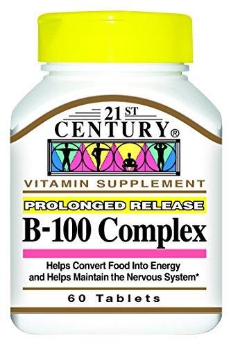 21st Century B 100 Complex Prolonged Release Caplets, 60 Count (21st Vitamins Century)
