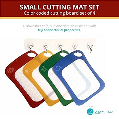 Self Healing Cutting Mat Set - Flexible Scratch Resistant Cutting Board, Durable, Easy to Clean & Dishwasher Safe by Zone - 365