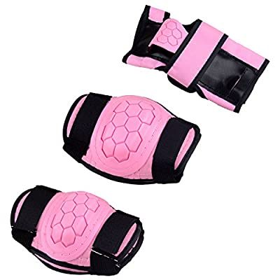 Kids Children Roller Skating Skateboard BMX Scooter Cycling Protective Gear Pads (Knee pads+Elbow pads+wrist pads) by Kukome-shop