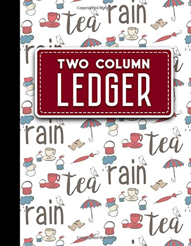 """Read Online Two Column Ledger: Record Book, Accounting Note Pad, Ledger Books For Bills, Cute London Cover, 8.5"""" x 11"""", 100 pages (Volume 91) PDF"""