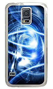 Samsung Galaxy S5 Abstract Blue Art PC Custom Samsung Galaxy S5 Case Cover Transparent