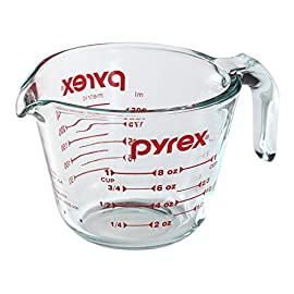 Pyrex Prepware 8-Cup Measuring Cup 1 Food Flavors Or Food Stains Go Directly From Refrigerator Or Freezer To Preheated Oven. Pyrex Glass Is Non-Porous, So It Won't Absorb Food Odors