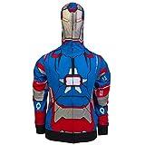 Marvel Iron Man 3 Iron Patriot Full Zip Hoodie Size : Large