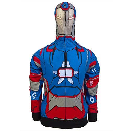 [Iron Man - Patriot I Am Costume Zip Hoodie - 2X-Large] (Iron Man Shirt And Mask Costumes)