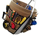 Garden Caddy Bucket Tool Organizer Waterproof Waxed Canvas Tool Bag Heavy Duty Multi Purpose Bucket Tool Bag Holds All Little Tools for Garden Yard Perfect For Gardener or Fishing Enthusiast CYTB01