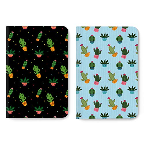 Factor Notes: B6 2-in-1 Pack Notebooks, 90 GSM Natural Shade Paper Journal Diary, Dot Grid, 224 Pages (Cactus)