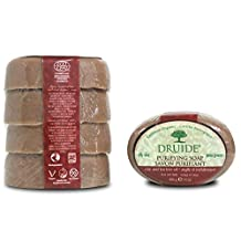 DRUIDE Purifying clay & tea tree soap bar - family pack x4, 400 Grams