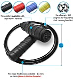 FAST Speed Jump Rope & bag, NoSlip Grip, Ball Bearing Handles, Adjustable, Thick Weighted Wire Cable by SweatGear, Boxing, CrossFit, WOD, Martial Arts, Weight Loss, Double Under, Enhance Your Fitness! Review