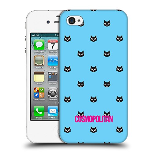 Official Cosmopolitan Sky Blue Lovey The Cat Hard Back Case for Apple iPhone 4 / 4S