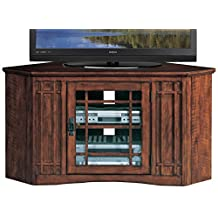 "Leick Furniture Mission 46"" Corner TV Stand in an Oak Finish"